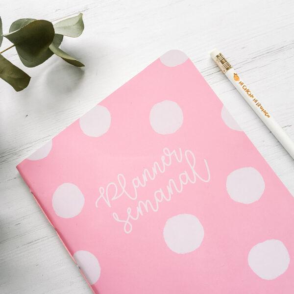 5 - Planner semanal rosa