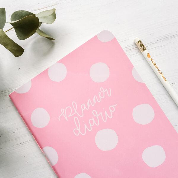 6 - Planner diario rosa