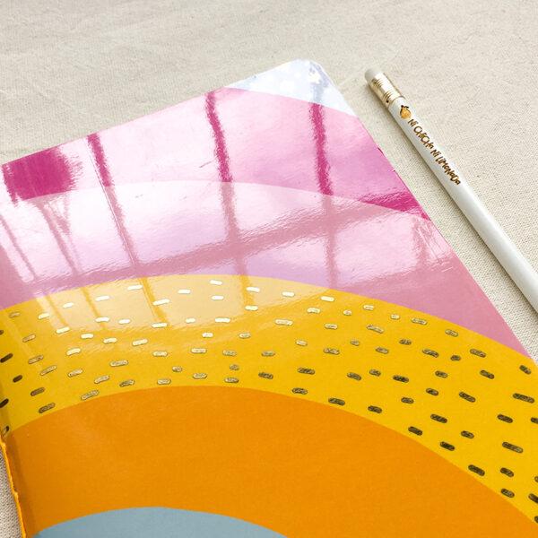 Cuaderno - Arcoiris dorado 2