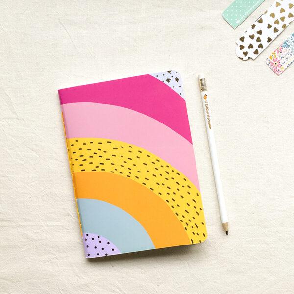 Cuaderno - Arcoiris dorado