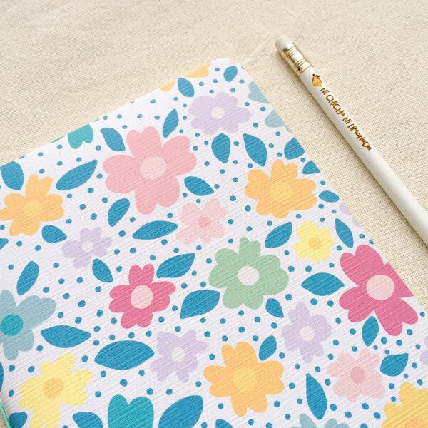 Cuaderno - Flores azules 2
