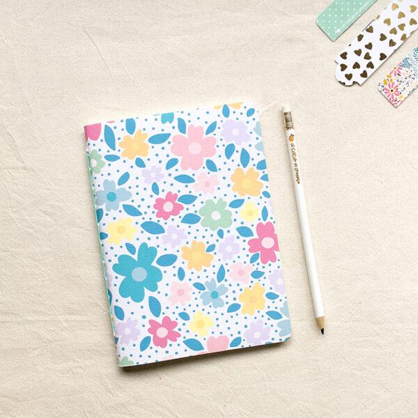Cuaderno - Flores azules