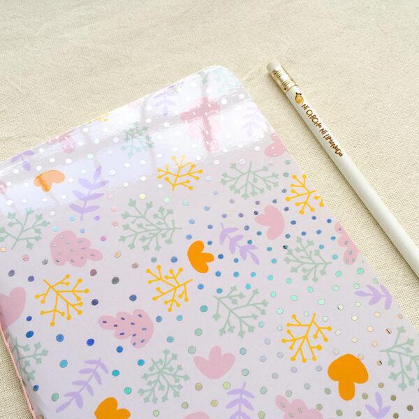 Cuaderno - Hojas rosas 2