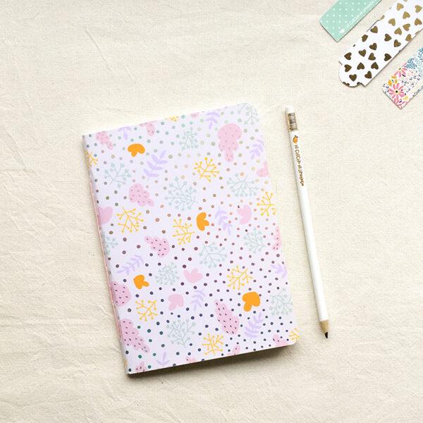 Cuaderno - Hojas rosas