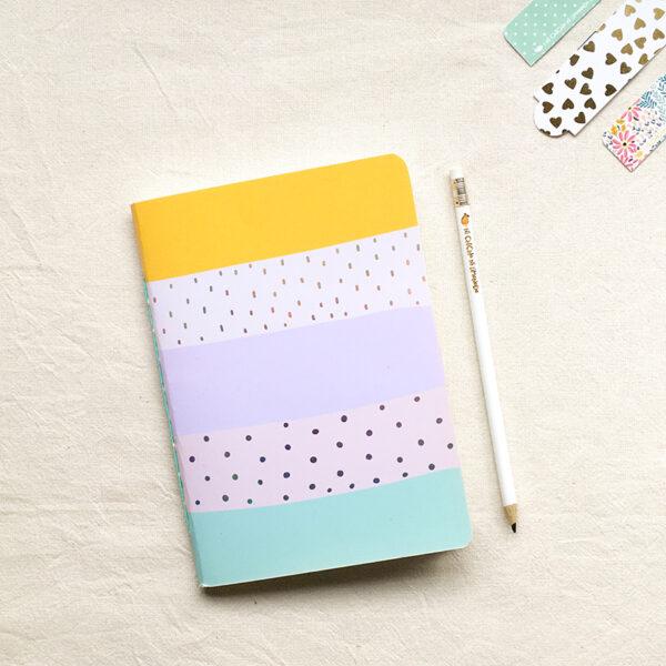 Cuaderno - Rayas aqua