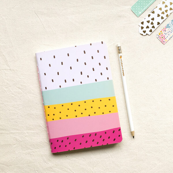 Cuaderno - Rayas fucsia